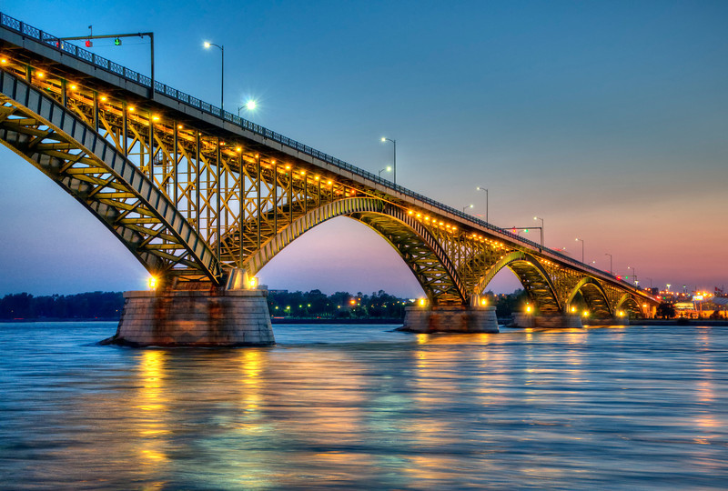 """Peace Bridge during Sunset"" Buffalo, NY. This image won Best in Architectural Category at the Erie County Fair, 8/2013"
