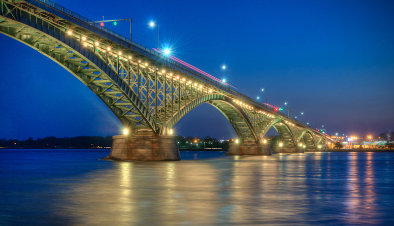 """Peace Bridge"" Summer Solistice 2012, USA to Canada"