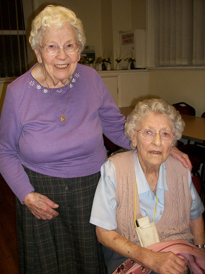 Winfred Hardman & Janet Anthony are the two eldest members,  Winifred is also the eldest Mothers' Union member in the diocese
