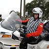 Officiating at the Greenville Crit, SC on a 1997 Gold Wing Aspencade.  This photo was taken October 1999.