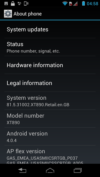 ICS 4.0.4<br /> System 81.5.31002
