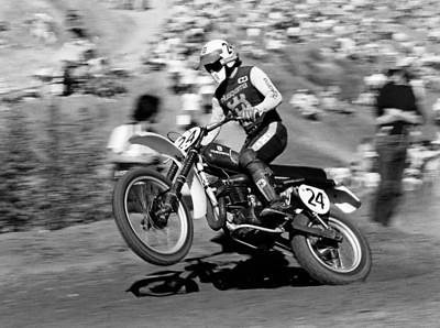 Brad Lackey on a Hysqvarna CR360 at the 1976 USA Saddleback Trans-AMA race. Brad also raced for Husqvarna in the 500cc World Motocross Championship that year.