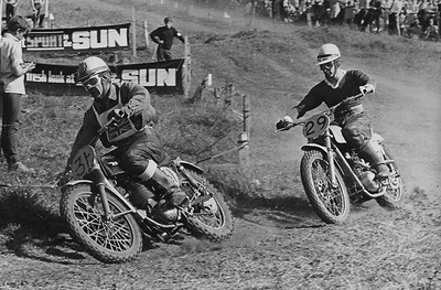British Grand Prix 1966, Farleigh Castle.  #31 Jeff Smith, #29 Don Rickman