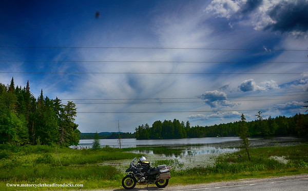 Motorcycle the adirondacks
