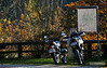 To the right: my Ténéré, to the left: Bernhard's BMW R 80 G/S - autumn ride 2009
