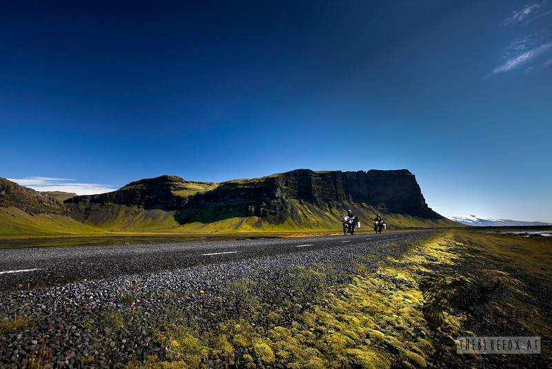 In the south of Iceland. Me in the front, Bernhard following. Summer 2010.<br /> Captured by my tripod and the remote control ;)