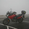 2006 Suzuki V Strom at the top of Mt. Evans on the highest paved road in the U.S, 2007.