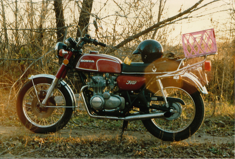 Commuted on this CB350F while getting my degree in nursing, 1986.