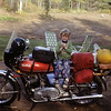 Miss Kelly poses on my 75 Norton Interstate.<br /> Duluth, MN