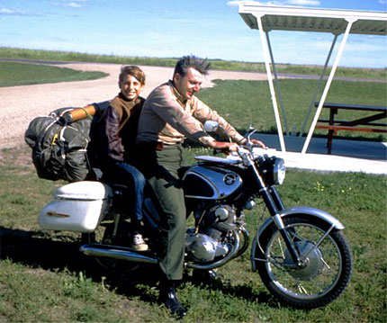 Robert Pirsig and his son Chris.