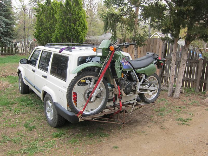 April 10, 2014<br />  I bring home my 2000 Kawasaki KLR 250