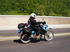 25 May 2008.  There have been a lot of bikes out during the memorial day weekend.  This is a new KLR 650; the plates were from Illinois. <br /> <br /> Pineville, KY.