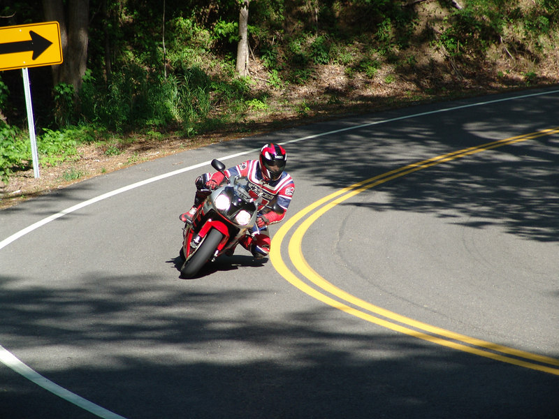 "Michael ""Mike"" Mefford on Honda RC 51.  US 129 (The Dragon) near Deal's Gap, NC"