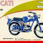 Ducati Falcon 80 ad from the 60s.
