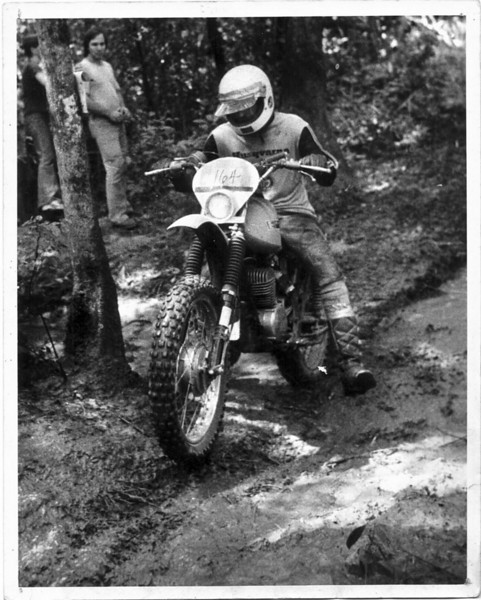 On the YZ400, Conyers, GA, August 1978.