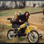 Jack with YZ400, Wildcat Creek (Lawrenceville) GA, April 1978.