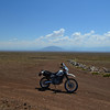 Suzuki DR 650 on Taos Plateau, NM