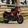 My Guzzi T5 at Antietam battlefield.