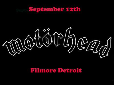 Motorhead at the Filmore Detroit