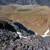 Dana Lake below in Glacier Canyon - that blue is even more impressive in person