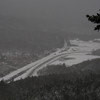 Visability was nil!!!!This was the best view of the day, looking down to the Highland Ctr, Crawford Notch-