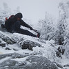 What goes up must come down- <br /> one of the few times an ice ax would have been helpful