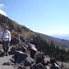 Miles, rocks, Mt. Adams.