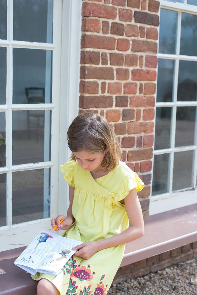 "Elisabeth doing her ""kids adventure map"""