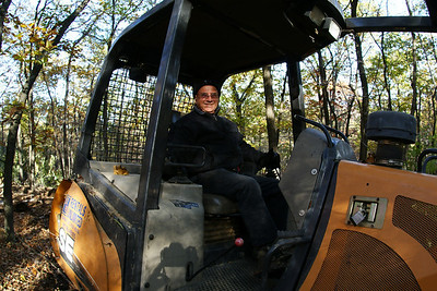 Dad on the (his) dozer.