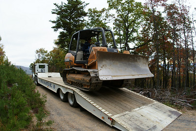 Taking delivery of the dozer.