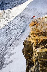 Climber & Glacier