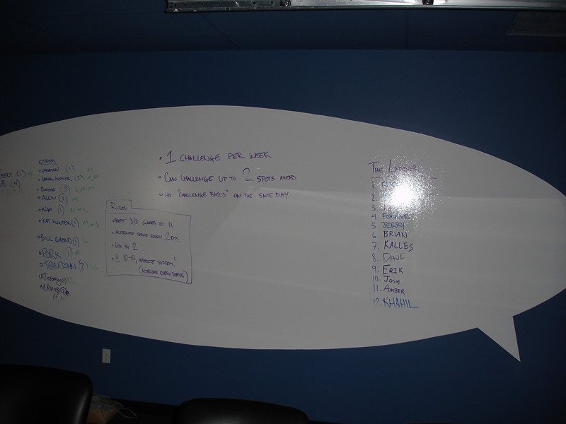 The white board in the conference room (super old)