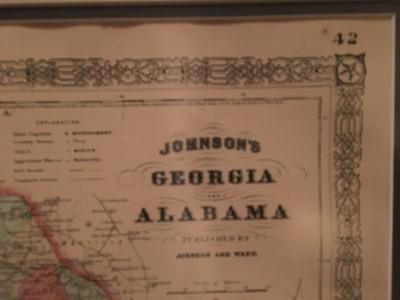 Georgia and Alabama map detail