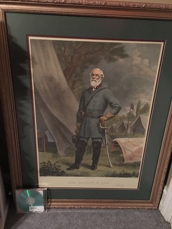 Robert E. Lee. Compact disc for scale.