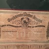 Detail of $1000 Confederate war bond.