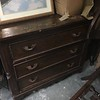 Antique sideboard. Provenance unknown. Battered but sturdy