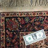 Karastan rug detail. Dollar bill for scale.