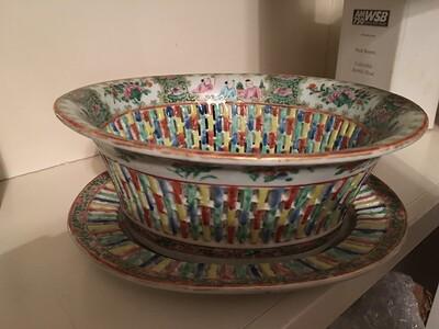 Pierced porcelain. No maker's mark.