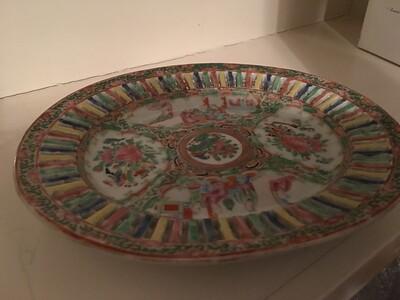 Base of pierced porcelain.