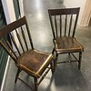 Two antique chairs. Provenance and maker unknown.