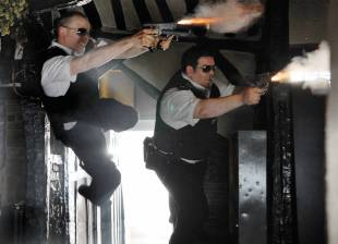 Simon Pegg as DC Nick Angel and Nick Frost as PC Danny Butterman.