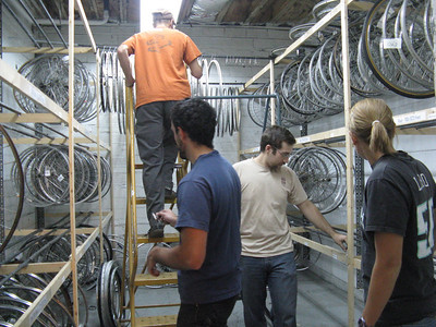 Working in the wheel room