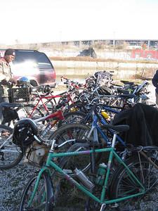 These volunteers biked in