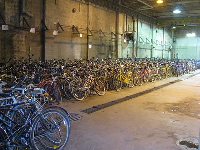 Packed-in bikes
