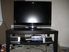 "Sharp flatscreen 32"" TV = $400 OBO<br /> TV Stand/coffee table = $15"