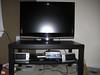 "Sharp flatscreen 32"" TV = $400 OBO<br /> TV Stand/coffee table = $15"