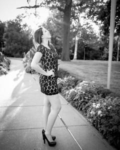 Full Length Profile Dress bw (1 of 1)
