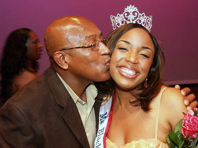 Ms./Miss Black Georgia USA 2010, Carla Hawkins and her Father.