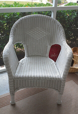 Wicker arm chair