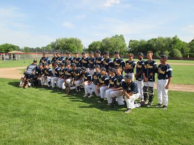 Joe Buczek - The Morning Sun  Mt. Pleasant players pose after winning their second straight regional championship on Saturday, June 7, 2014.